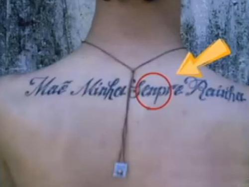 tatuagens com erros de português