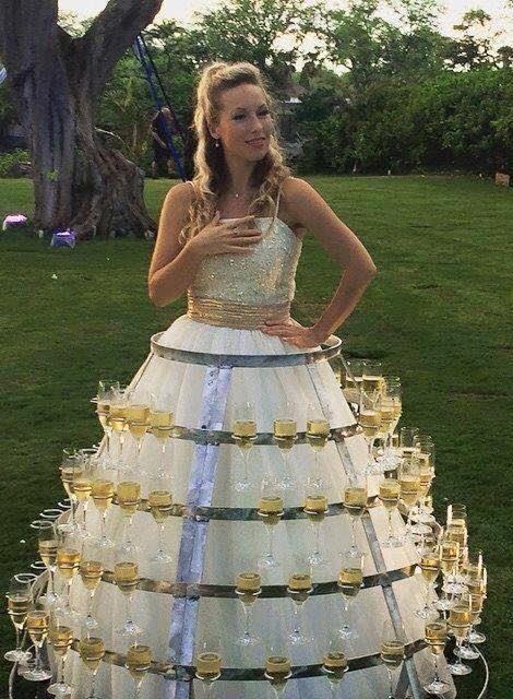 vestido de noiva taças