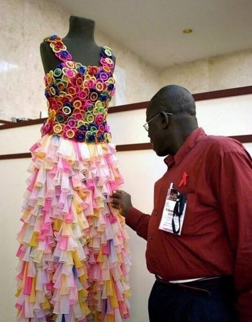 vestido de noiva feito de proteção