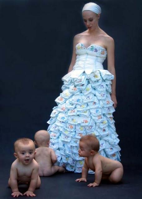 vestidos de noiva de fralda