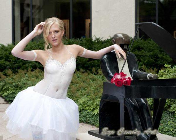 vestidos de noiva pintura corporal