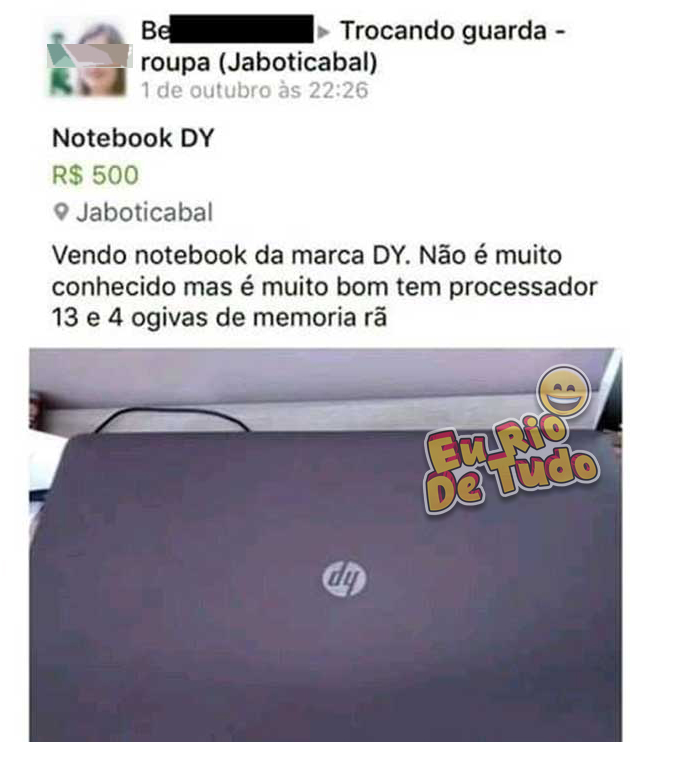 venda de notebook usado