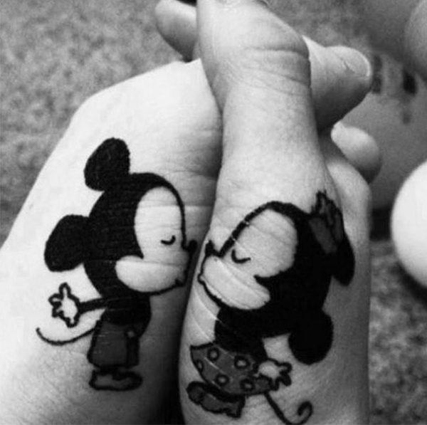 tatuagens interativas mickey e minie