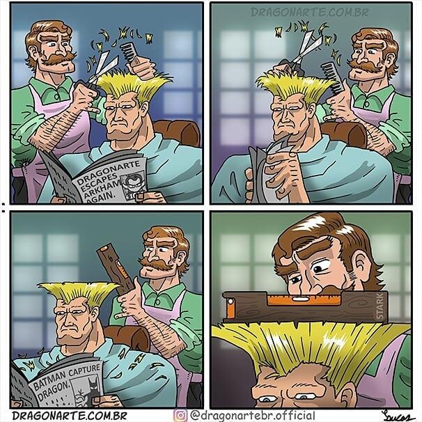 Guile cabelinho na régua