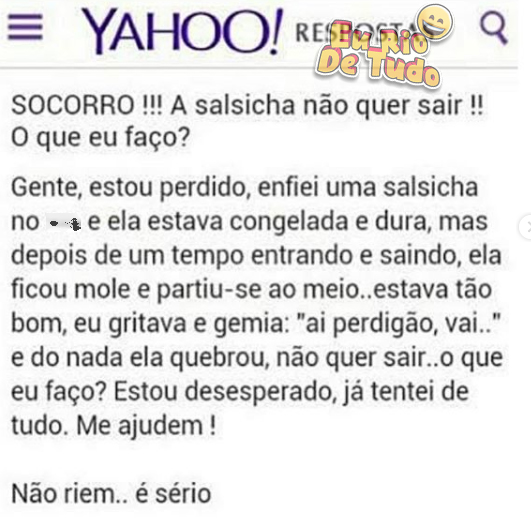 pérolas do Yahoo Respostas