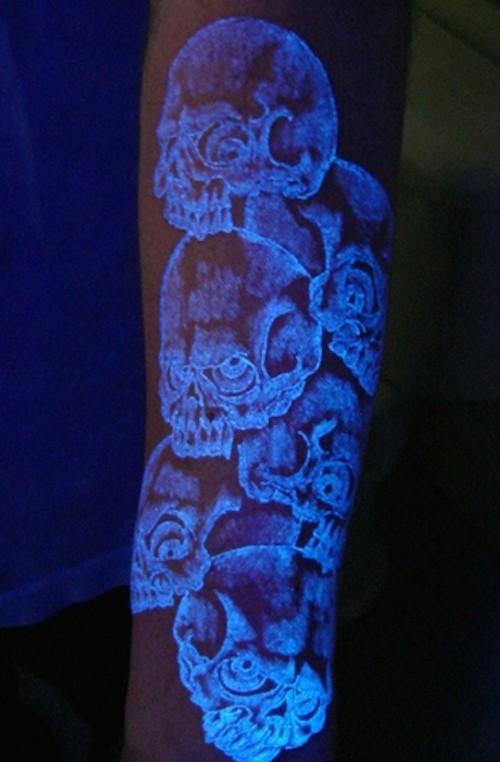 tatuagens de crânios humanos