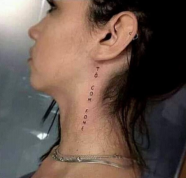 tatuagem no pescoco